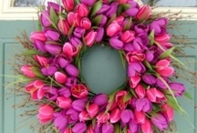 Colourful Spring Flower Wreaths
