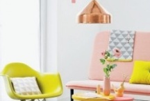 Decoration in pastel colors