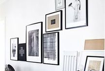 WALL : How to hang it / idea's to hang pictures, art and posters on the wall. Wall decor
