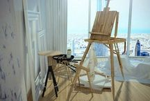 Painting atelier & Home workspace