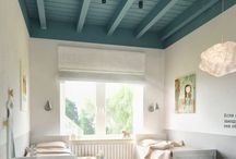"""CEILING COLOR + PATTERN / Ceilings are the most overlooked """"wall"""" in a room. We've been looking UP in all of our projects and utilizing the 5th wall potential. These rooms have conquered it!  Be inspired and use the finest paints.  https://palettepaint.com/"""