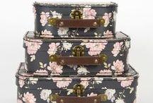 Decorative Suitcases & Storage Boxes / Vintage, Floral, Boho Chic Decorative Suitcases & Storage Boxes