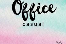 w o r k - c a s u a l / Outfits for everyday wear. Semi-professional for work.