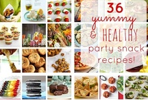 yummy & healthy-ish super bowl {or any other event!} party snacks! / lots of yummy, healthy, satisfying snack recipes (some sweet, some salty, some savoury!) for a fabulous party! #appetizers #desserts #treats #snacks #party #superbowl