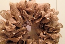 BURLAP, Linen, Sisal,Jute& Denim Creations / by Laura Marec