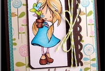 Tiddly Inks cards / Their images are cute. Sample cards have great colors and cute scenes and backgrounds! I hope to be that good some day!