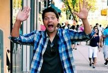 Meanwhile Misha / He absolutely cracks me up! I love how fun and laid back Misha Collins is and that he's not afraid to just be real.
