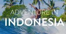 Adventure in  Indonesia / Travel around with us around Indonesia. Land of rolling rice fields, volcanoes, and stunning islands. Indonesia is a country which is incredibly diverse and varied offering travelers the chance to see a lot.