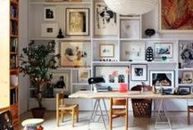 There's no place like home / home decor, dyi ideas, shelving, photos, arrangements