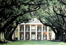 """Southern Plantation / Antebellum means """"before war"""" in Latin. The term Antebellum architecture refers to elegant plantation homes built in the American South during the years preceding the Civil War. Most Antebellum homes are in the Greek Revival, Classical Revival, or Federal style: grand, symmetrical, and boxy, with center entrances in the front and rear, balconies, and columns or pillars."""