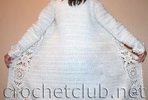 Crochet/Knit wearables / sweaters, tops, cardigan, shawls.. Anything wearable to knit or crochet / by Erika Hill