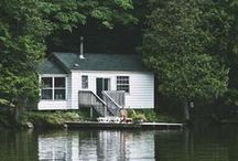 * lake / lodge / beach / farm