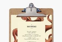 Graphic Design- menu / by Joanne Kim Milnes