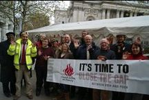 Our campaigns / Photos from our campaign actions to Close the Gap between rich and poor