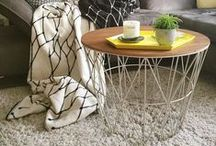 {Styling: Ferm Living Wire Basket Table}