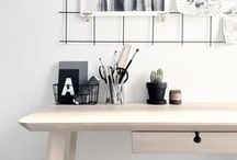 {Styling: Ikea LISABO desk} / This desk is made from ash veneer. Each table has its own unique character due to the distinctive grain pattern.   Designers: Knut Hagberg and Marianne Hagberg for Ikea