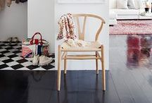 {Styling: Wishbone Chair} / The Wishbone Chair is perhaps Wegner's most celebrated work. A light, attractive and comfortable dining chair with the characteristic Y-shaped back. Hans J. Wegner designed the Wishbone chair for Carl Hansen & Søn in 1949 and it has been in continuous production since 1950.  Source: http://www.carlhansen.com/products/chairs/ch24