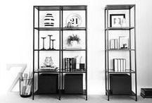 {Styling: Ikea VITTSJÖ shelves}