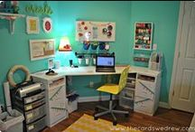 Craft Room Ideas / Ideas for organizing and decorating your craft room or craft space / by The Cards We Drew