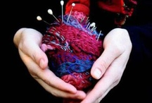 le sacre coeur / sewing up broken hearts - 1 year of mediative stitching- 52 heart project. inspirational material to keep my process moving forward