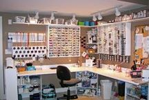 Organize your craft or sewing room / Lots of ideas and DIY projects to organize your craft or sewing room