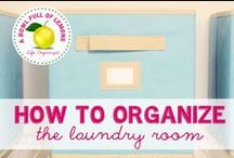 Organize your bath- and laundryroom / Tips and tricks how to get the most out of the limited space in your bathroom and/or your laundryroom
