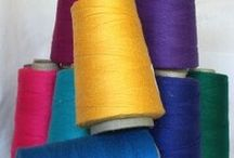 Cotton Yarns We Love! / We love to knit, weave and crochet with these cotton yarns.  They're quality that will last a lifetime.
