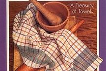 Treasury of Towels Kit-of-the-Month Club / Join Cotton Clouds' Treasury of Towels Kit Club and receive Free Shipping on each kit!  Weave these gorgeous 100% cotton towels on any 4-Harness loom. Includes towels woven with our Aurora Earth, Cottolin and Bambu yarns.
