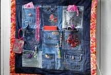 Reciclando jeans / trabajos realizados con jeans