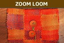 ZOOM Loom / ZOOM Loom. Small and compact, the Zoom Loom is easy to take along any where, any time. Weave anywhere, any time.  It's the hottest new crafting tool!  Create scarves, vests, shawls, afghans, baby blankets, placemats and more with your favorite yarns!  Visit us online at www.cottonclouds.com