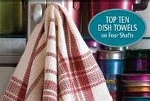 """Top Ten Towels on 4-Shafts / Discover and delight in these projects from our newest Best of Handwoven - Top 10 Towels on 4-shafts e-book from Interweave Press.  Visit us online at www.cottonclouds.com  Each of these towel projects (except one which can be adjusted) can be woven on your 18""""-20"""" four-shaft loom."""