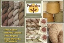 Pakucho 100% Organic Color Grown Cotton Yarn / You're going to love Pakucho, 100% certified organic, naturally colored organic cotton yarn!   The yarn colors are grown in shades of browns and greens; no dyes or chemicals are used in it's processing, making this a very earth-friendly yarn! Not only is it earth-friendly, Pakucho yarn is also grown and produced on a local cooperative in Peru where all employees make a fair income.