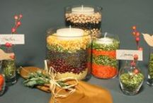 Thanksgiving Plant and Food Table Decorations / How to decorate your Thanksgiving table with food items while keeping edible food safe to eat. / by Alice Henneman