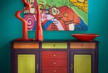 """MyGrange Custom Directoire Cupboards / Introducing """"MyGrange"""", a revolutionary design tool that takes the guesswork out of customization. Visualize our artisan-crafted furniture in over 75 wood and colored finishes to express your personal style."""