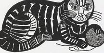 Edward Bawden / Illustrations, posters, wallpaper, book covers, and design by Edward Bawden. Includes many of his Ambrose Heath woodcut designs and book covers.