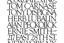 Herb Lubalin / Logos, typography, design, and fonts by Herb Lubalin.