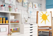 Creative Kid's Art Spaces / Fun ideas to support creative expression for your child while keeping the mess under control and you sane!