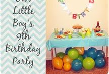 {Boy Birthdays} / I LOVE planning parties; especially for my kids!