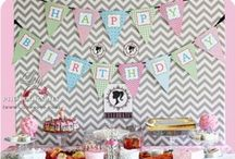 {Girl Birthdays} / I LOVE planning Parties; especially for my Kids!