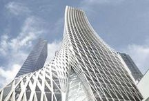Innovative Architecture / Complex, abstract and characteristic perspectives on architecture.