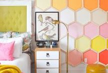 Wacky & Wonderful Walls / Creative ideas to add to walls for kids or grown ups!