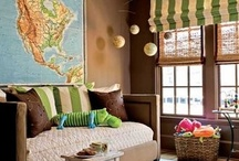 Room for Boys to Grow / Boys need to play and explore but also need peaceful spaces to retreat for rest and reflection. These boy's rooms are fun but have room where boy's can dream of the world they'll conquer!
