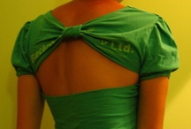 T-Shirt Makeover / Projects you can make with old t-shirts that are too tight, too baggy, or just plain ugly