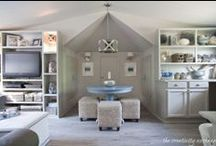 How to Covert Your Attic / Don't waste any valuable space in your house! Look at these great ideas for using the room under your eaves.