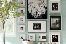 Creative Family Photo Walls / Look at your photo wall as a whole art statement, not just a collection!