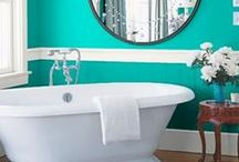 Domestication : Bathroom & Laundry Room / Designs, products, and remodeling ideas for the powder room. / by Kim Derryberry