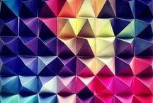 Colores / Mezclas de bellos colores con texturas, volúmenes, formas, etc.
