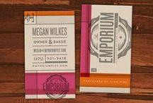 Tarjetas de presentación / Ideas de diseños para que hagas tu propia tarjeta de presentación.