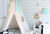Pastel Play Room | Bed Room / Ideas for a children's playroom or bedroom featuring lots of products ans styling ideas that Moozle loves in beautiful, soft pastel tones. / by Moozle