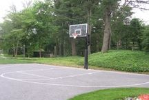 Driveway Basketball Courts / No room for a backyard basketball court? DeShayes Dream Courts will create a driveway basketball court in your driveway. #drivewaybasketballcourt